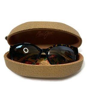 Maui Jim Brown & Black Big Frame Sunglasses W Case